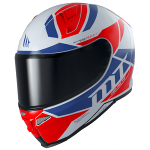 Integrální přilba na motorku MT Revenge 2 Scalpel modro-bílo-červená výprodej