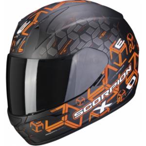 Integrální přilba Scorpion EXO-390 Cube černo-oranžová výprodej