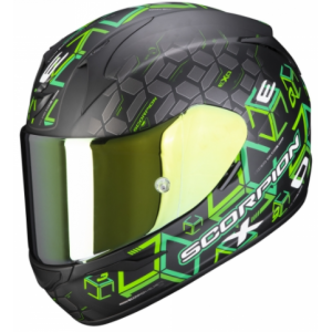 Integrální přilba Scorpion EXO-390 Cube černo-zelená výprodej