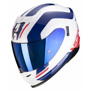 Integrální přilba Scorpion EXO-520 AIR Lemans bílo-modro-červená výprodej