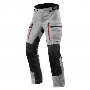 Kalhoty na motorku Revit Sand 4 H2O stříbrno-černé