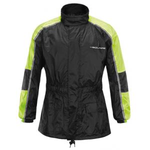Moto bunda do deště 4SQUARE Drop černo-fluo žlutá
