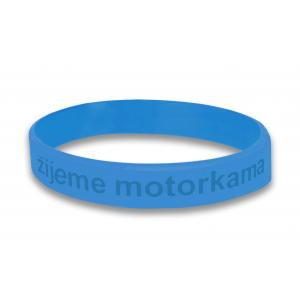 Moto náramek Motozem žijeme motorkama modrý