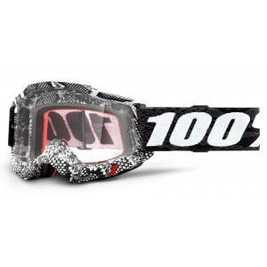 Motokrosové brýle 100% ACCURI 2 černo-bílé (čiré plexi)