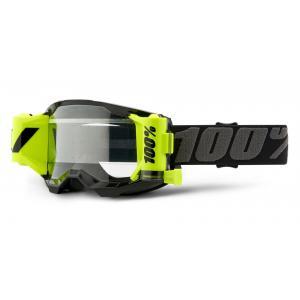 Motokrosové brýle 100% ACCURI 2 Roll-Off černo-šedé (čiré plexi) výprodej