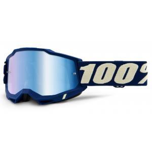 Motokrosové brýle 100% ACCURI 2 tamvě modré (modré zrcadlové plexi)