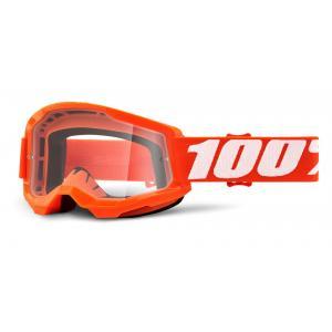 Motokrosové brýle 100% STRATA 2 oranžové (čiré plexi)