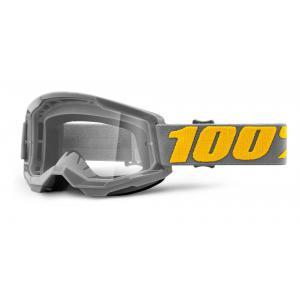 Motokrosové brýle 100% STRATA 2 šedé (čiré plexi)