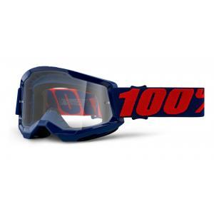 Motokrosové brýle 100% STRATA 2 tmavě modré (čiré plexi)