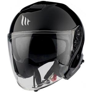 Otevřená přilba na motorku MT Thunder 3 SV Solid černá lesklá - II. jakost