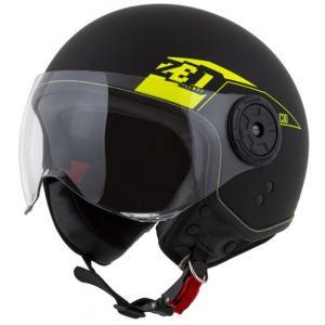 Otevřená přilba na motorku ZED C30 černo-fluo žlutá matná