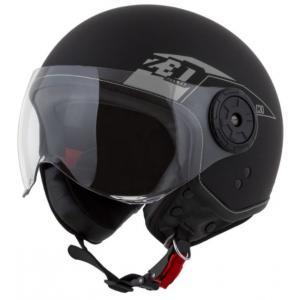 Otevřená přilba na motorku ZED C30 černo-šedá matná