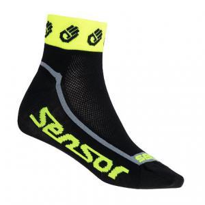 Ponožky Sensor Race Lite Small Hands černo-fluo žluté