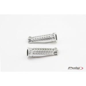 Stupačky bez adaptérů PUIG R-FIGHTER 9192P stříbrná