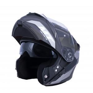 Vyklápěcí přilba na motorku MT Storm ST-ONE černo-šedá