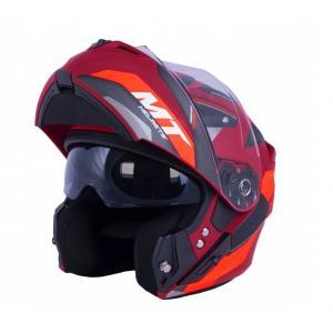 Vyklápěcí přilba na motorku MT Storm ST-ONE červeno-černá