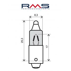 Žárovka RMS 246510025 12V 23W, 180° (10 kusů)
