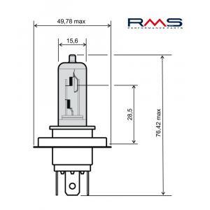 Žárovka RMS 246510185 12V 35/35W, HS1 bílá