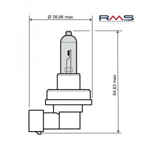 Žárovka RMS 246510075 12V 35W, H8 bílá