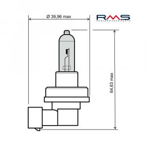 Žárovka RMS 246510070 12V 35W, H8 modrá