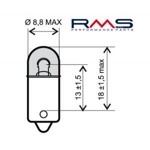 Žárovka RMS 246510415 12V 4W, BA9S bílá