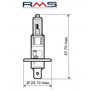 Žárovka RMS 246510030 12V 55W, H1 modrá