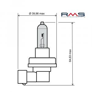 Žárovka RMS 246510085 12V 55W, H11 bílá