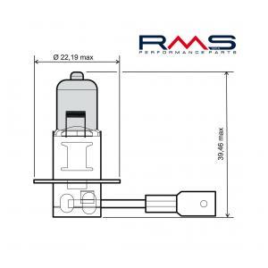 Žárovka RMS 246510040 12V 55W, H3 modrá