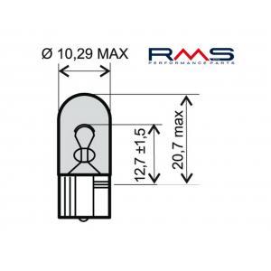 Žárovka RMS 246510285 12V 5W, W2.1X9.5D bílá