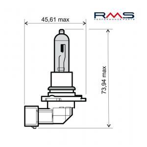 Žárovka RMS 246510095 12V 65W, HB3 bílá