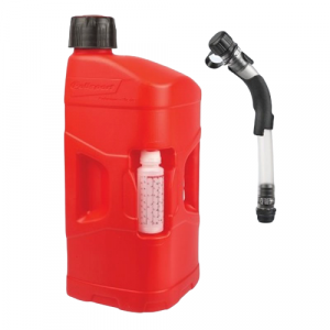 Kanystr POLISPORT PROOCTANE 20 l with standard cap + 250 ml mixer + hose průhledná červená