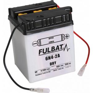 Konvenční motocyklová baterie FULBAT 6N4-2A Včetně balení kyseliny