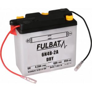 Konvenční motocyklová baterie FULBAT 6N4B-2A Včetně balení kyseliny