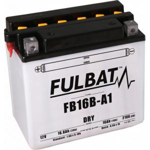 Konvenční motocyklová baterie FULBAT FB16B-A1 (YB16B-A1) Včetně balení kyseliny