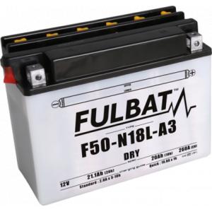 Konvenční motocyklová baterie FULBAT F50-N18L-A3 (Y50-N18L-A3) Včetně balení kyseliny