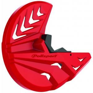 Kryt předního brzdového kotouče se spodním krytem vidlice POLISPORT PERFORMANCE červeno CR 04/černá
