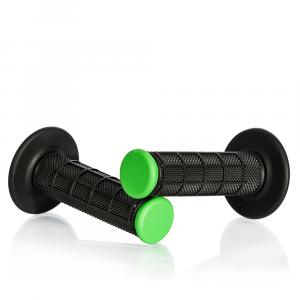 Motokrosové rukojeti MOTION STUFF černá/zelená