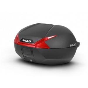 Vrchní kufr na motorku SHAD SH47 D0B47206 černá/červená