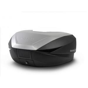 Vrchní kufr na motorku SHAD SH59X D0B59200 černý s hliníkovým krytem (rozšiřitelný koncept) se zámkem PREMIUM SMART