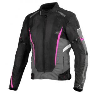 Dámská bunda na motorku SECA Airflow II černo-růžová