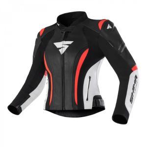 Dámská bunda na motorku Shima Miura 2.0 černo-bílo-fluo červená