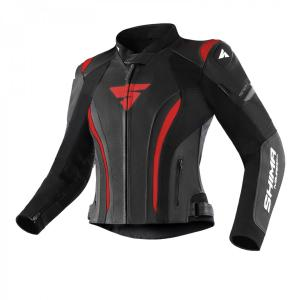 Dámská bunda na motorku Shima Miura 2.0 černo-červená