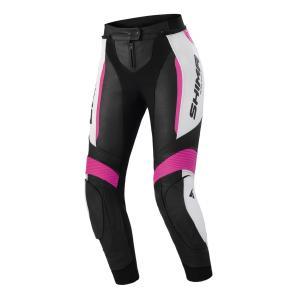 Dámské kalhoty na motorku Shima Miura 2.0 černo-bílo-růžové