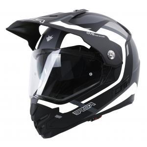 Enduro přilba RSA MX-01 EVO černo-bílo-šedá