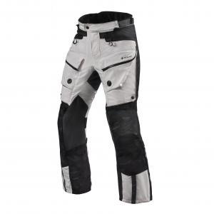 Kalhoty na motorku Revit Defender 3 GTX stříbrno-černé prodloužené