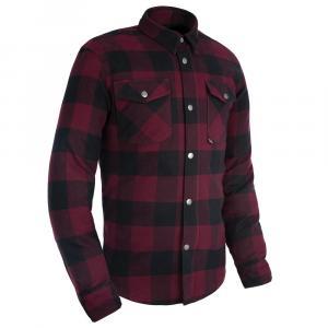 Košile na motorku Oxford Kickback 2.0 červeno-černá