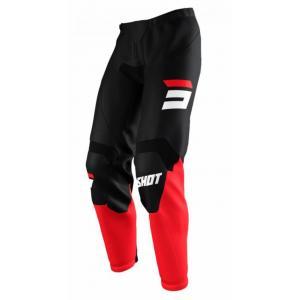 Motokrosové kalhoty Shot Raw Burst černo-červené