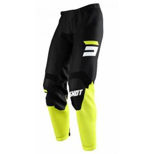 Motokrosové kalhoty Shot Raw Burst černo-fluo žluté