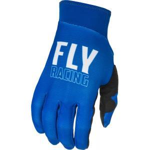 Motokrosové rukavice FLY Racing Pro Lite - USA bílo-modré