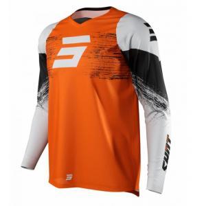 Motokrosový dres Shot Raw Burst šedo-oranžový